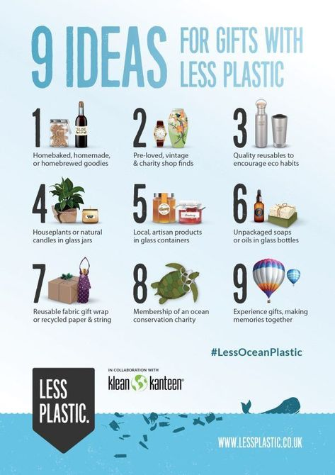 9 tips for living with less plastic- gift ideas that don't rely on new plastic materials or are plastic-free