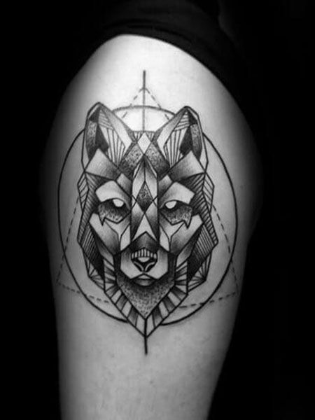 55 Best Arm Tattoo Ideas For Men Geometric Wolf Tattoo Tattoos For Guys Arm Tattoos For Guys