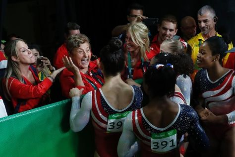 """""""The United States Women's Gymnastics Team won gold by over 8 points at the 2016 Olympic Games. The team is made up of Simone Biles, Gabby Douglas, Madison Kocian, Laurie Hernandez, and Aly Raisman...."""