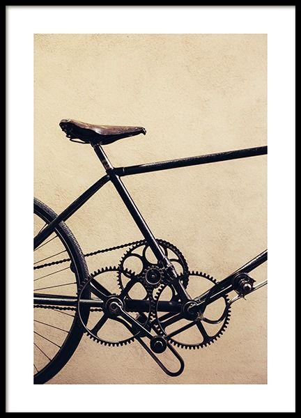 Black Bike Poster Plakater Vaerelsesindretning Billede