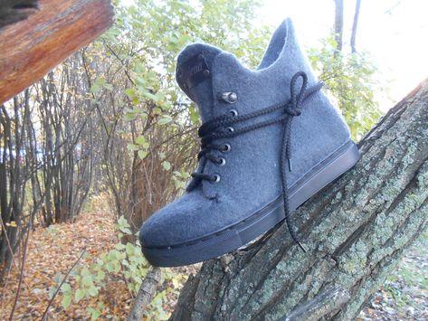 7120d6e2e #кедываляные#валянаяобувь# Обувь ручной работы. Ярмарка Мастеров - ручная  работа. Купить Кеды валяные. Handmade. Серый, купить ботинки женские