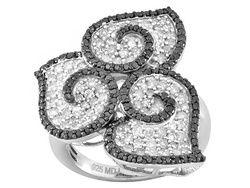 Pamela McCoy Diamonds(Tm) 1.75ctw Round White & Tuxblack Diamond Ring