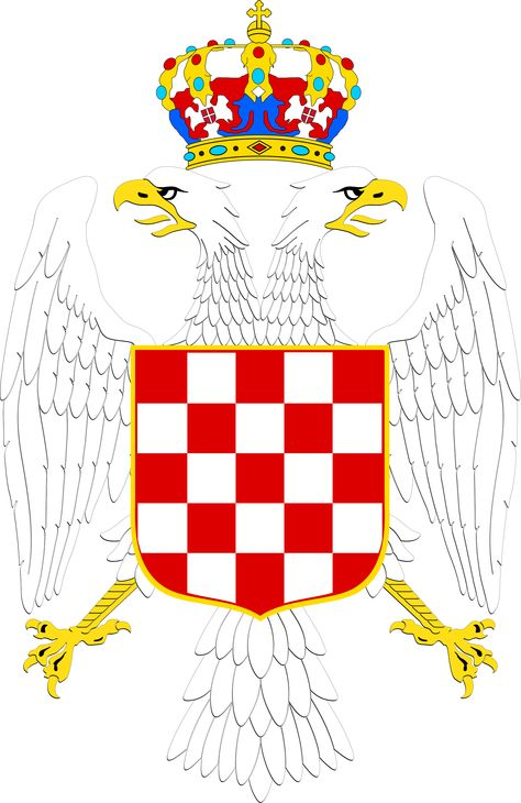 Greater Coat Of Arms Of The Banate Of Croatia Coat Of Arms House Of Savoy Croatia