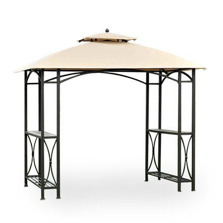 Garden Winds Sheridan Grill Gazebo Replacement Canopy Top Riplock 350 Replacement Canopy Top Cover Only Metal Frame Not Included Walmart Com Grill Gazebo Gazebo Replacement Canopy Replacement Canopy