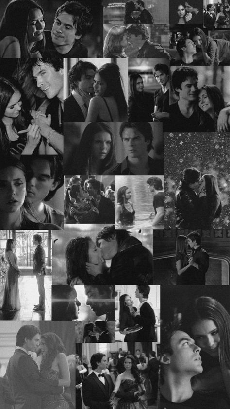 Damon and Elena wallpaper