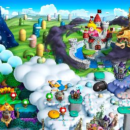 super mario galaxy mushroom kingdom