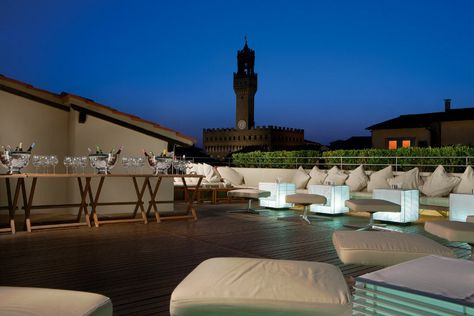 Sunset On Florence From La Terrazza Bar Rooftop Terrace