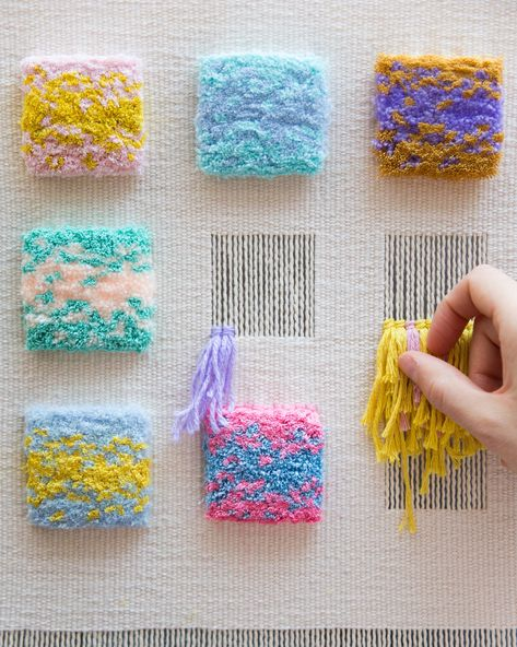 Episode Weaving Wall Hangings with Allyson Rousseau – Laquita Dematteo – – ed mckee 506 – weberei Weaving Textiles, Weaving Art, Weaving Patterns, Tapestry Weaving, Loom Weaving, Hand Weaving, Stitch Patterns, Knitting Patterns, Textiles Techniques