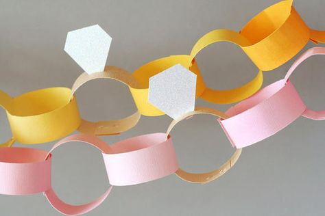 Diamond Ring Paper Chain