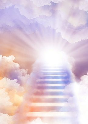 Heaven Background Colorful Sunshine Stairs In 2021 Heaven Wallpaper Colorful Clouds Colorful Backgrounds