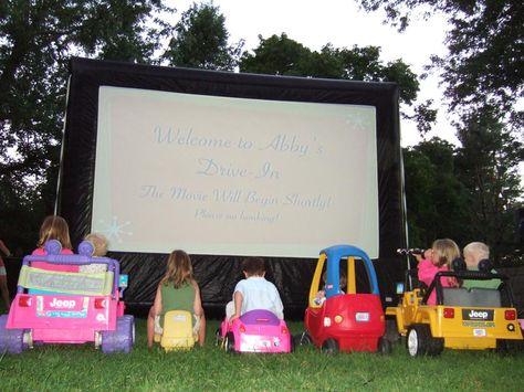 Drive in for kids!!!! Jeff and I have to do one of these for our Grand Kids and ME !!!! Very Very Cool