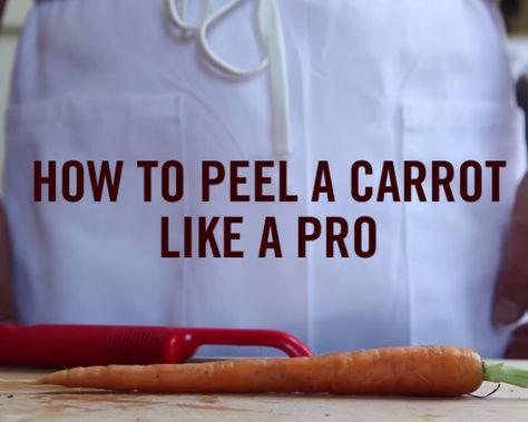 How to peel a carrot like a pro. #kitchen #tips