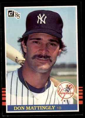 1985 Donruss 295 Don Mattingly Product Donruss Team New York Yankees Card Number 295 Year 1985 In 2020 New York Yankees Don Mattingly New York Yankees Baseball