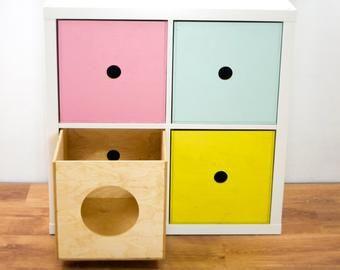 Expectit 1 2 Wooden Box Insert For Shelf Cabinet Ikea Expedit Kallax Ikea Expedit Wooden Boxes Kallax