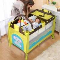 e08dfb86f Foldable 4 color Baby Crib Baby Bed Playpen Playard