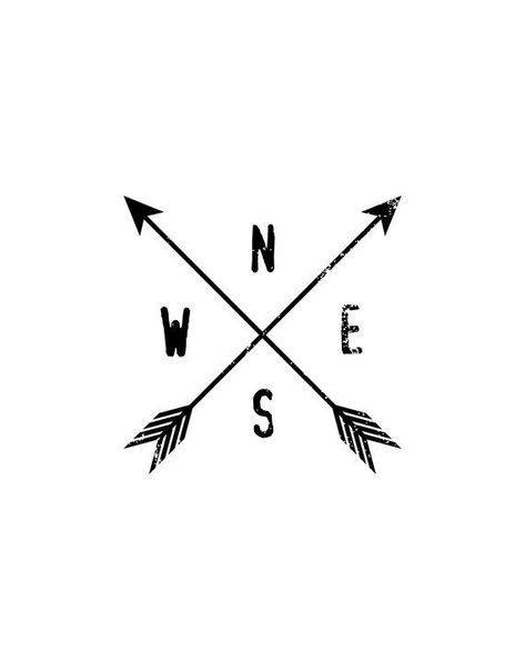 Compass Arrows, Compass Print, Arrow Print, Black and White, North, South, East,... - #Arrow #arrows #Black #compass #East #north #print #South #White