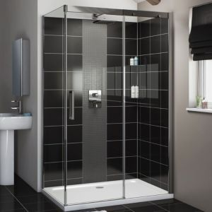 Cooke Lewis Carmony Rectangular Shower Enclosure Tray Waste Pack With Single Sliding With Images Rectangular Shower Enclosures Shower Enclosure Doors Shower Enclosure