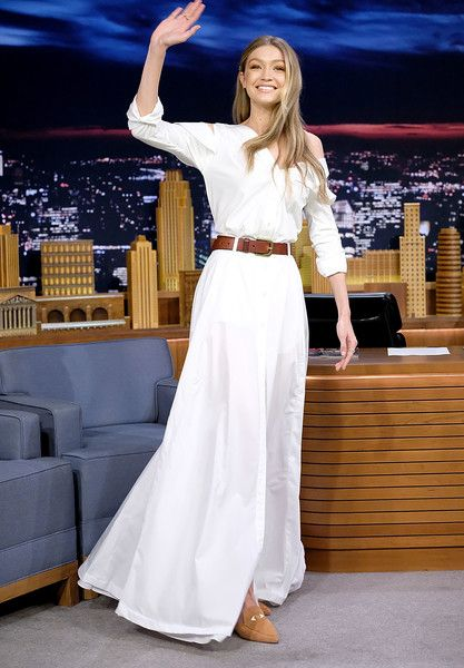 Gigi Hadid visits 'The Tonight Show Starring Jimmy Fallon' at Rockefeller Center.