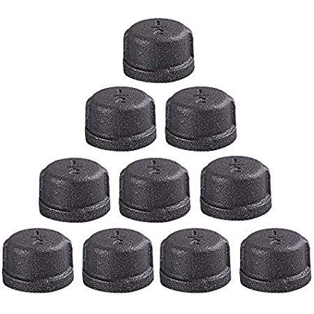 Goovi 1 2 Inch Malleable Cast Iron Pipe Cap Diy Retro Furniture Threaded Pipes And Fittings 10 Pack 1 2 Inch Pipe Cap