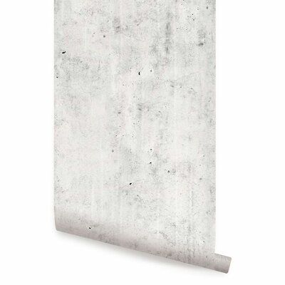 Roommates Cement Peel And Stick Wallpaper Covers 28 18 Sq Ft Rmk9115wp The Home Depot Peel And Stick Wallpaper Cement Design Grey Removable Wallpaper