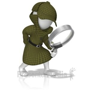 Id 13944 Detective With Magnifying Glass Presentation Clipart Clip Art Emoji Images Magnifying Glass
