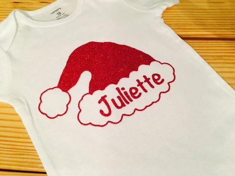 Christmas onesie Santa Hat Onesie Babies First Christmas  d01c9ec8719