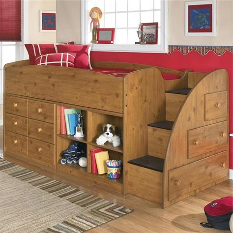 Signature Design By Ashley Dillon Twin Loft Bed With Right Storage