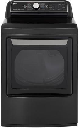 Dlex7900be Electric Steam Dryer With 7 3 Cu Ft Capacity Wi Fi Enabled Easyload Door In Black Gas Dryer Cool Things To Buy Stainless Steel Drum
