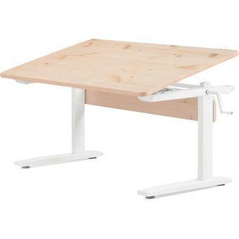 Flexa Schreibtisch Hohenverstellbar Und Neigbar Grau Lasiert Schreibtische Kinderzimmer Schreibtisch Tisch Hohenverstellbar