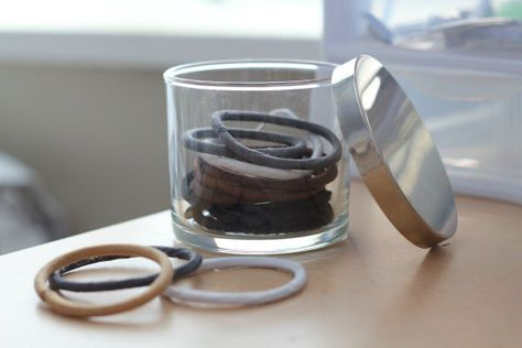 My Soul is the Sky: DIY candle to hair band storage