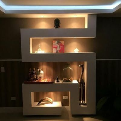 Modern Pop Wall Niches Designs Ideas With Lighting For Wall