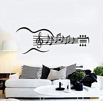 Amazon Com Large Vinyl Wall Decal Guitar Musical Instrument Music
