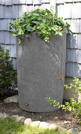 90 Gallon Good Ideas Impressions Bark Rain Saver Grey Rain Barrel Rain Barrel Kit Rainwater Harvesting