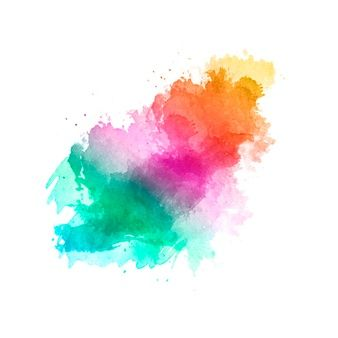 Download Nice Handmade Brush With The Colors Of The Rainbow For
