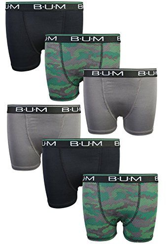 Reebok Boys Performance Quick Dry Compression Long Boxer Brief Pack of 6