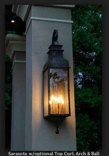 St James Sarasota Copper Outdoor Lantern Lights