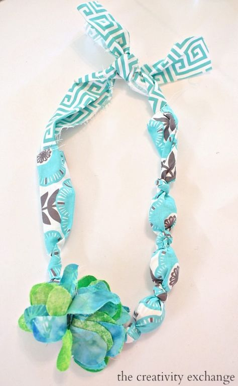 DIY Fabric Necklaces and Bracelets (Kid's Craft)