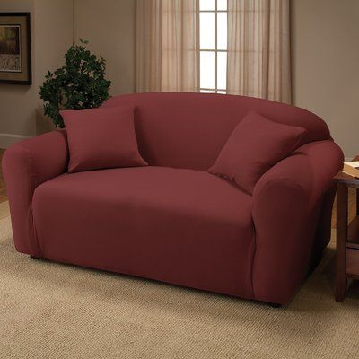 Winston Porter Box Cushion Loveseat Slipcover Colour Polyester