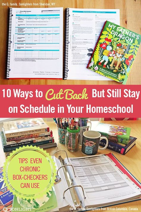 10 Ways to Cut Back But Still Stay on Schedule in Your Homeschool   Sonlight Homeschooling Blog