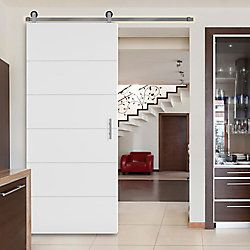 Masonite 36x84 Melrose Barn Door The Home Depot Canada Barn Door Prehung Doors Hollow Core Interior Doors