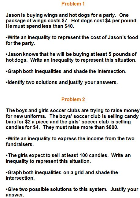 inequality word problems | Word problems, Linear function ...