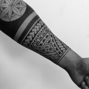 Maori Half Sleeve Tattoo By Danandout Maoritattoosband Tribal