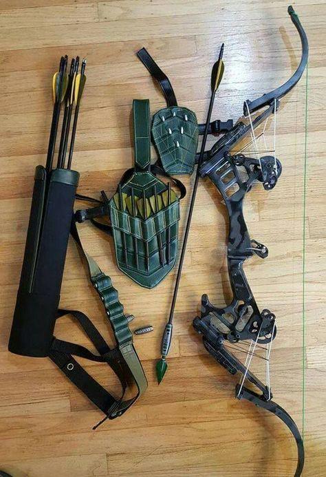 Cool are you green arrow Ninja Weapons, Weapons Guns, Armadura Ninja, Green Arrow Bow, Sabre Laser, Archery Bows, Deadshot, Weapon Concept Art, Bow Arrows