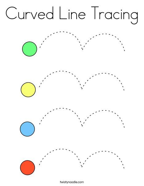 Curved Line Tracing Coloring Page Twisty Noodle Preschool Tracing Tracing Worksheets Preschool Math Activities Preschool Toddler tracing lines worksheets