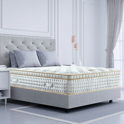 Bedstory 12 Inch Gel Infused Memory Foam Queen Mattress Luxury Pocket Coil Bed 655100109780 Ebay In 2020 Queen Memory Foam Mattress King Mattress Adjustable Bed Frame