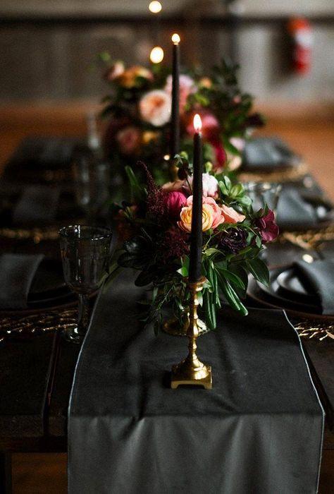 18 Velvet Wedding Decor Ideas ❤ velvet wedding decor black table decor austinhyler  #weddingforward #wedding #bride