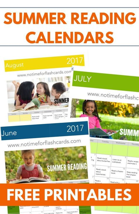 Summer Reading Calendars 2017 Free Printable Reading Prompts