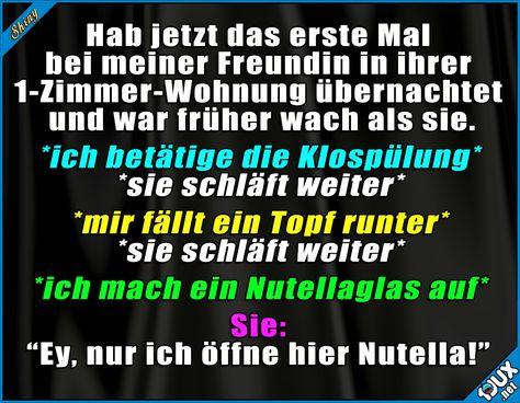 Bei Nutella hört der Spaß auf! #Nutella #Nutellaliebe #lustigeSprüche #Humor #Jodel #Statusbilder #lustig