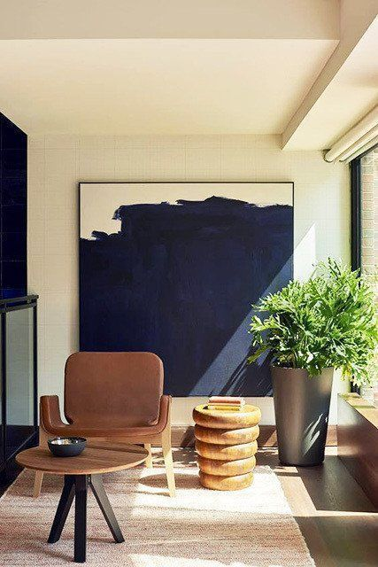 Decorating Tip For Small Spaces Use Large Wall Pieces Art Mirrors Etc De Art Contemporar In 2020 Contemporary Home Decor Big Wall Art Contemporary Decor