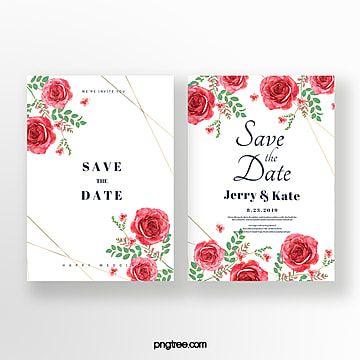 Vintage Floral Double Sided Wedding Invitation Contoh Undangan Pernikahan Undangan Pernikahan Pernikahan